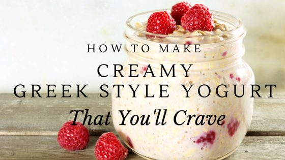 How To Make Creamy Greek Style Yogurt That You'll Crave