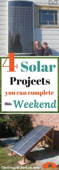 Getting excited about all the buzz about solar power? Here's 4 diy solar projects you can complete this weekend - you probably have most of these materials laying around!