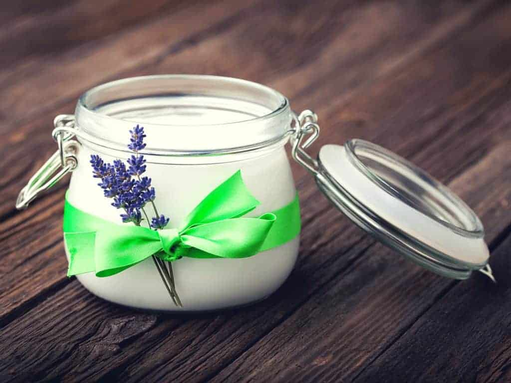 Here's how to use raw organic coconut oil and lavender to create salon-worthy body butters! Only 2 ingredients - make it today with ingredients already in your pantry! From FrugalChicken