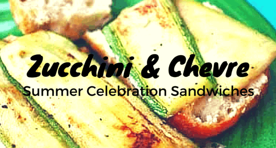 Chevre Cheese & Zucchini Sandwich : Celebrate Summer! If you have too much zucchini, try pairing it with chevre cheese in this light and yummy sandwich! Easy to make! From FrugalChicken