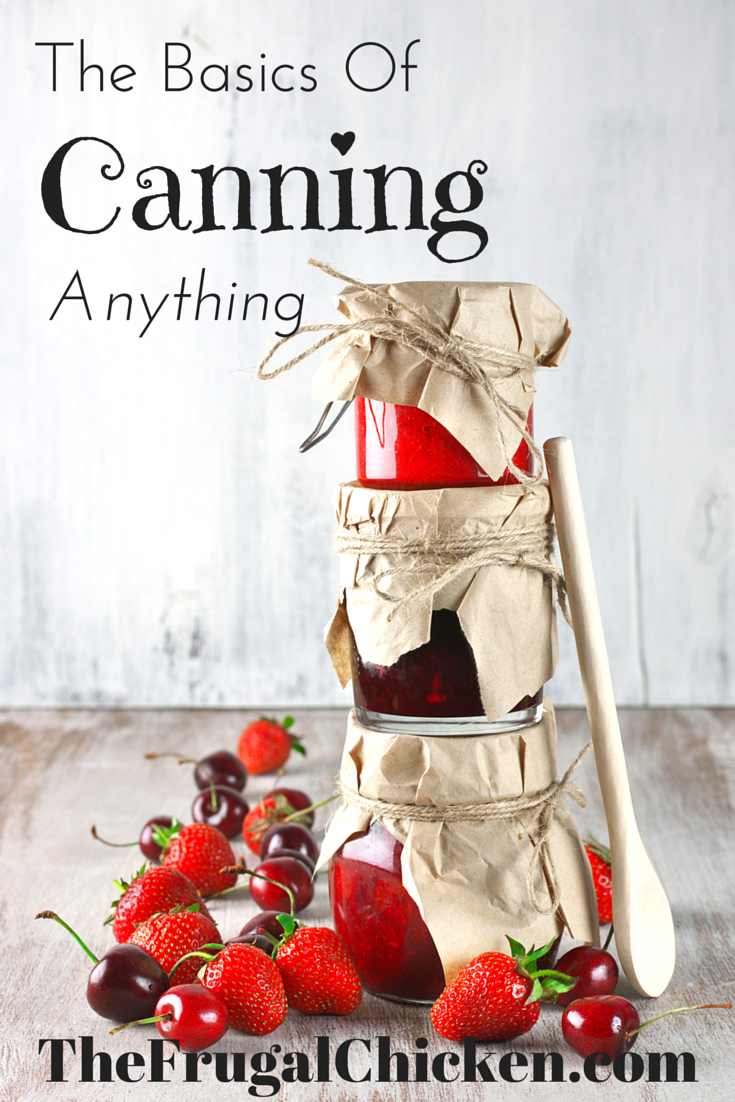 Confused about canning? It's easy! This article covers the basics of canning, including how to do it, what to buy, and where to buy it! From FrugalChicken