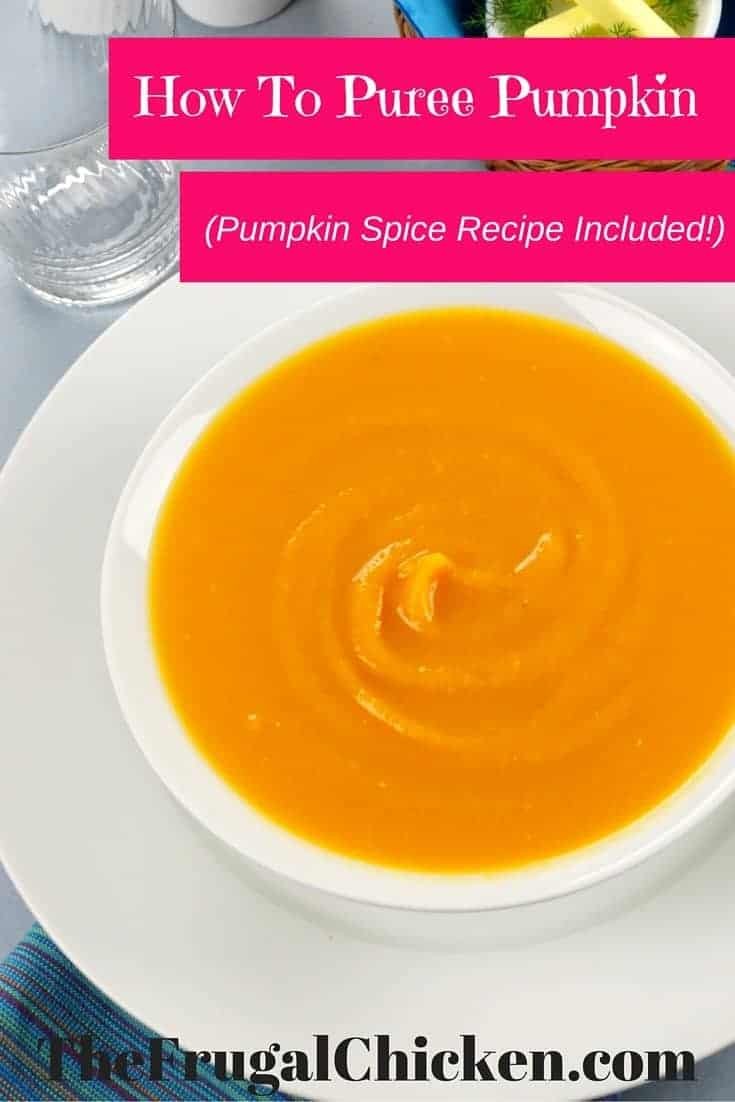 Grab some pumpkin and let's make pumpkin puree! It's a versatile pantry staple, and I've even thrown in a pumpkin spice recipe to get you started. From FrugalChicken