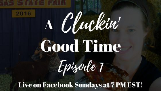 A Cluckin' Good Time airs on the FrugalChicken Facebook page at 7pm EST on Sundays