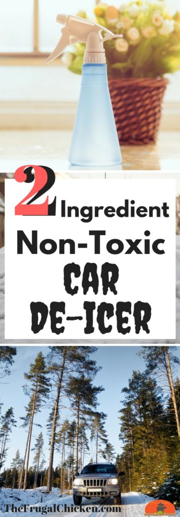 Non-Toxic homemade car de-icer spray is so easy to make that you'll never have to buy the commercial stuff again. Here's an easy-to-repeat recipe!