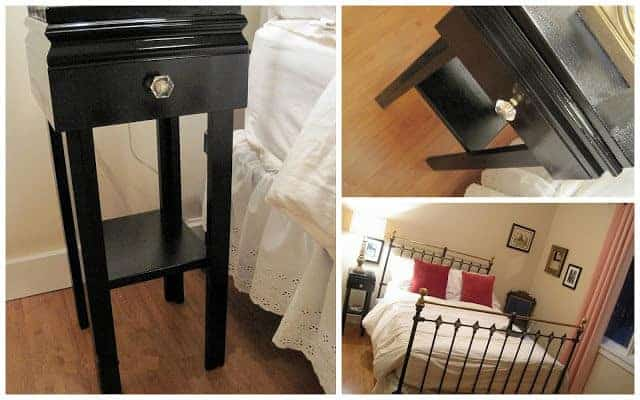 Need a cool weekend project? Try this easy DIY refurbished nightstand idea!