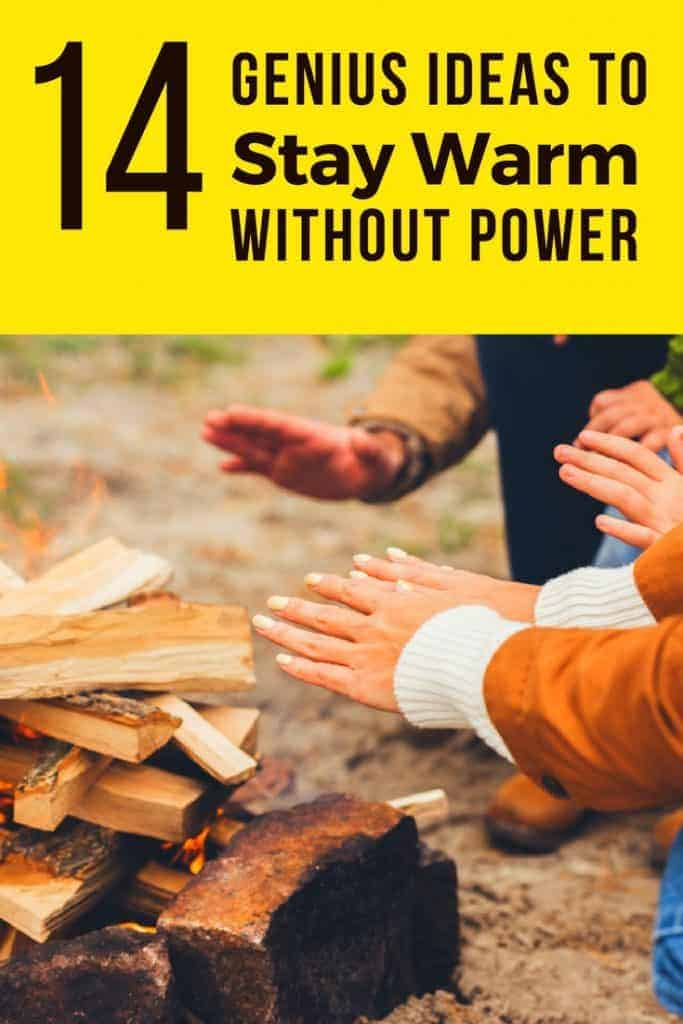 Cold but don't have power? Here's 14 genius ideas for how to stay warm in winter without heat!