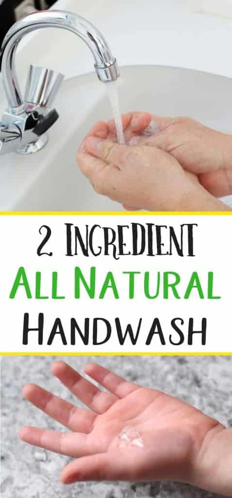 2 ingredient hand wash for kids