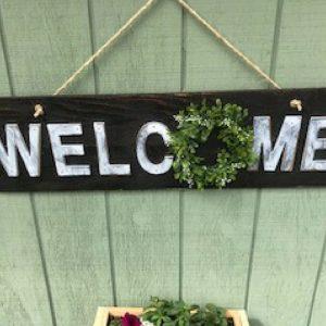Rustic Welcome Outdoor Sign Compressor 300x300