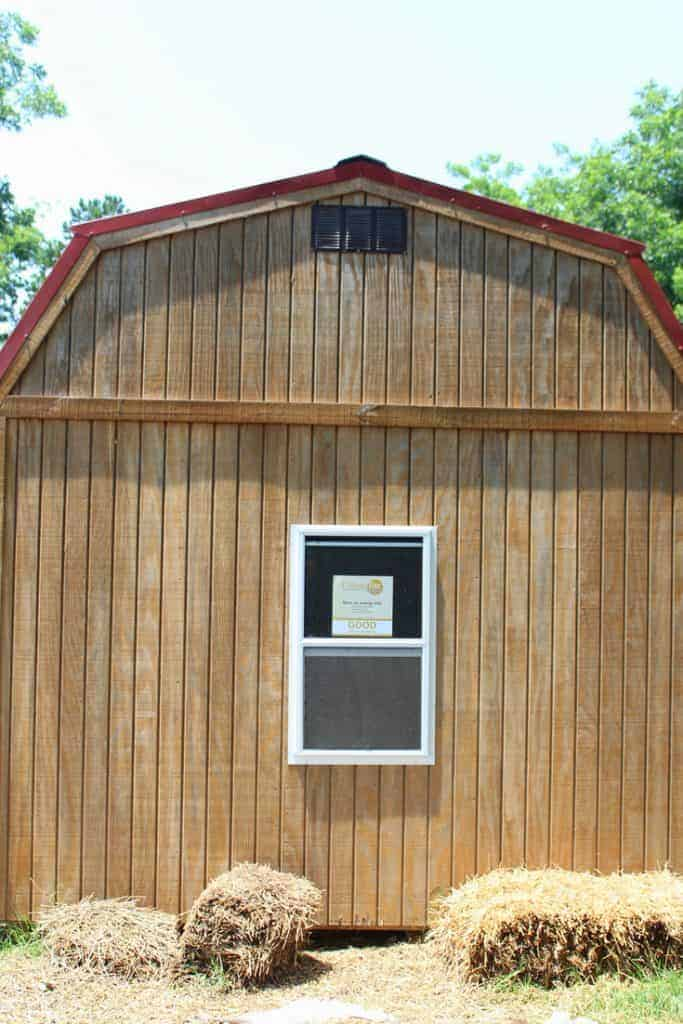 Backyard chicken coop window installation complete