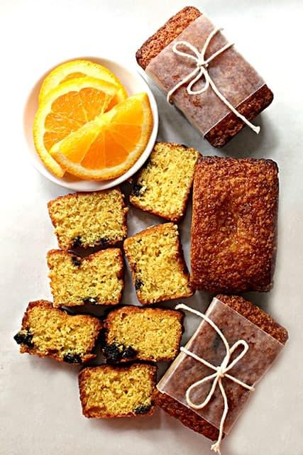 Orange Cherry Olive OIl Cakes 1