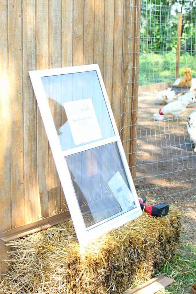 Backyard chicken coop window tutorial