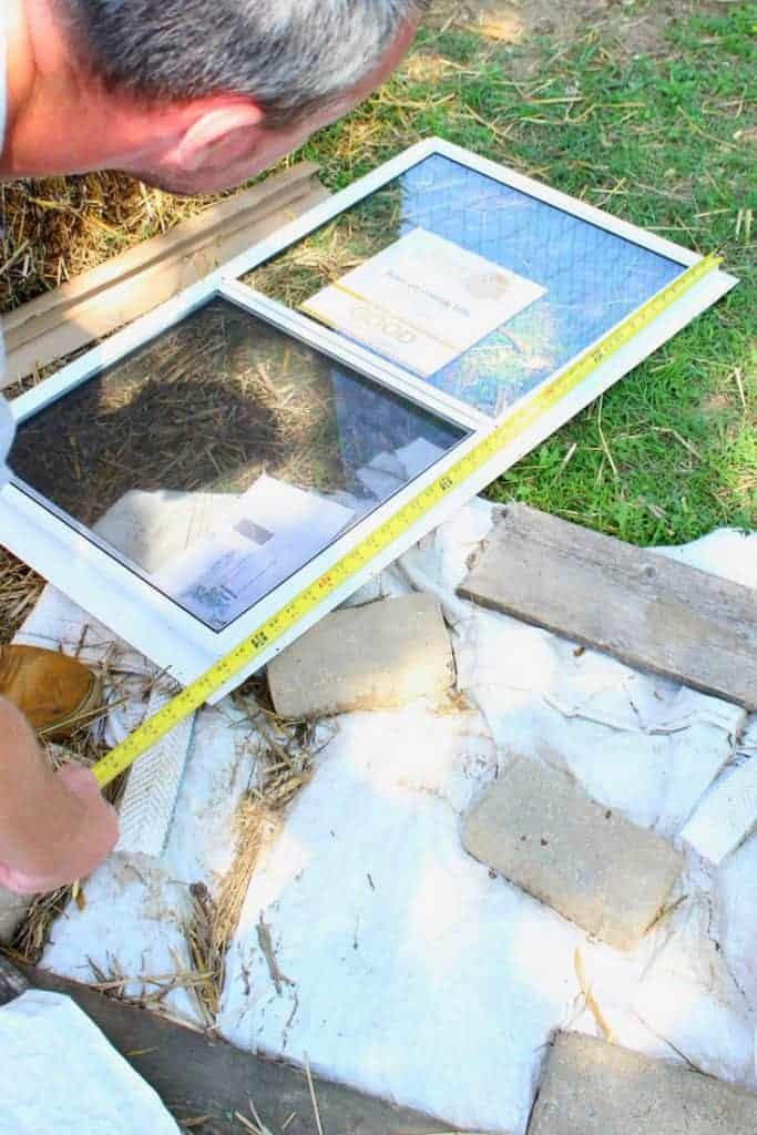 Backyard chicken coop window measuring
