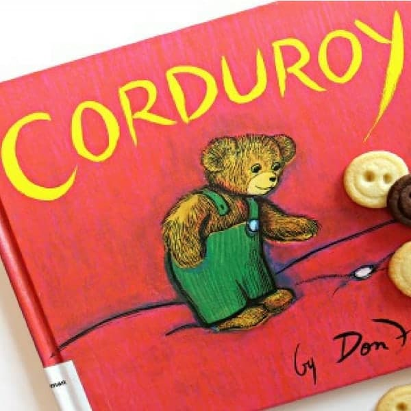 "Children's Book Read-and-Bake Series: Vanilla and Chocolate Shortbread Button Cookies for ""Corduroy"" by Don Freeman"