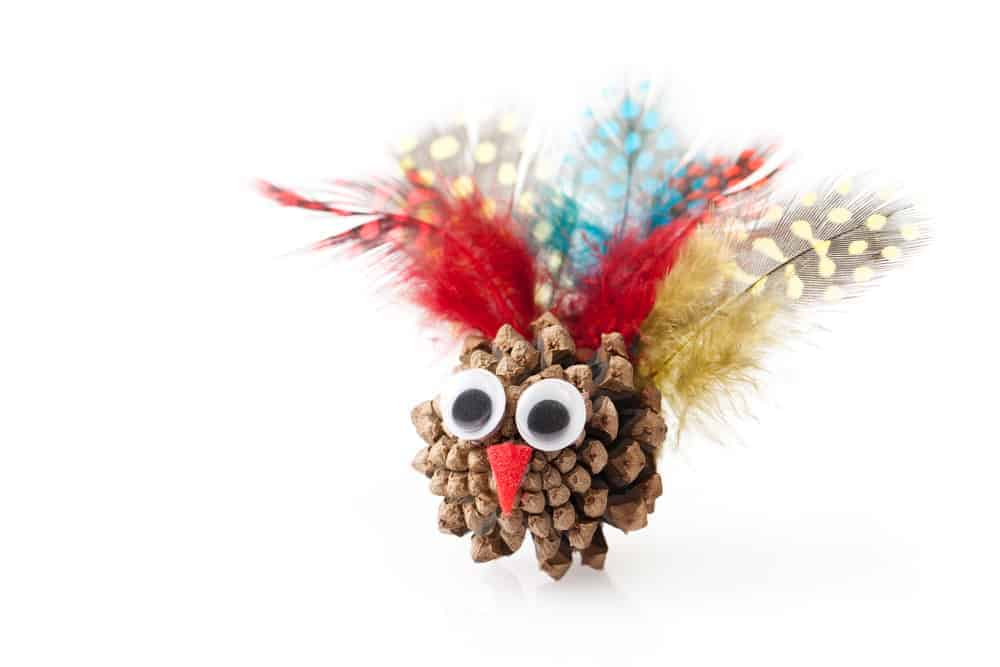 Cute DIY Pinecone Turkey