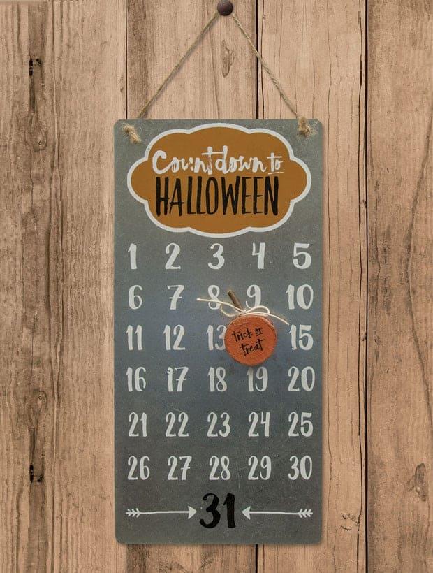 Countdown To Halloween Calendar 2