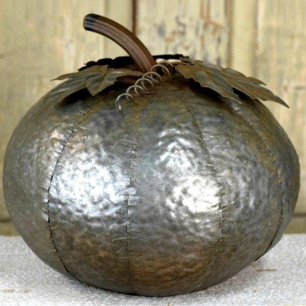 Industrial Tin Pumpkin 1