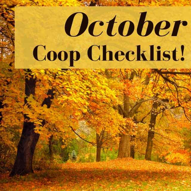 Chicken coop checklist for October