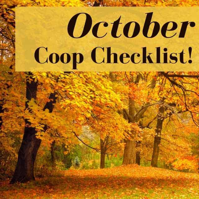 October Chicken Coop Checklist: What To Do In Your Coop In October