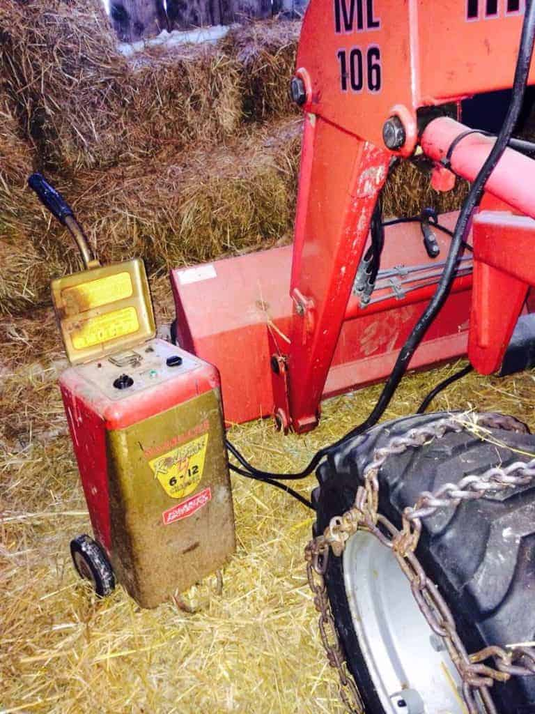 tractor with a charger