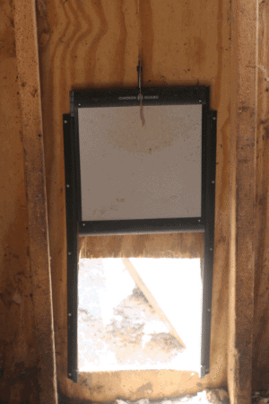 chicken guard coop door