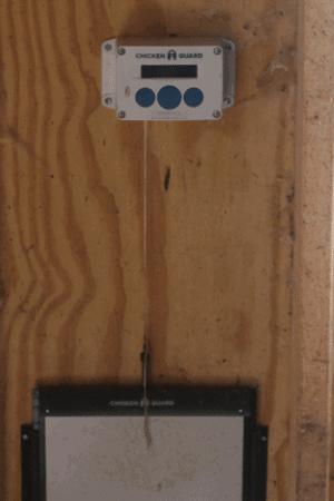 chicken guard coop door with spring